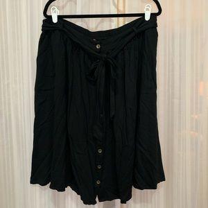 Black button down skirt